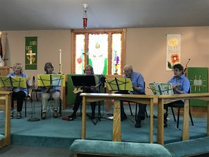 worship band Faith Lutheran Church Miltona MN